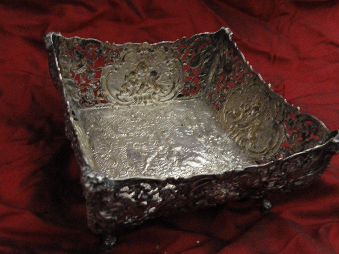 ANTIQUE SILVER FRUIT BASKET 800 SILVER GERMAN - 6
