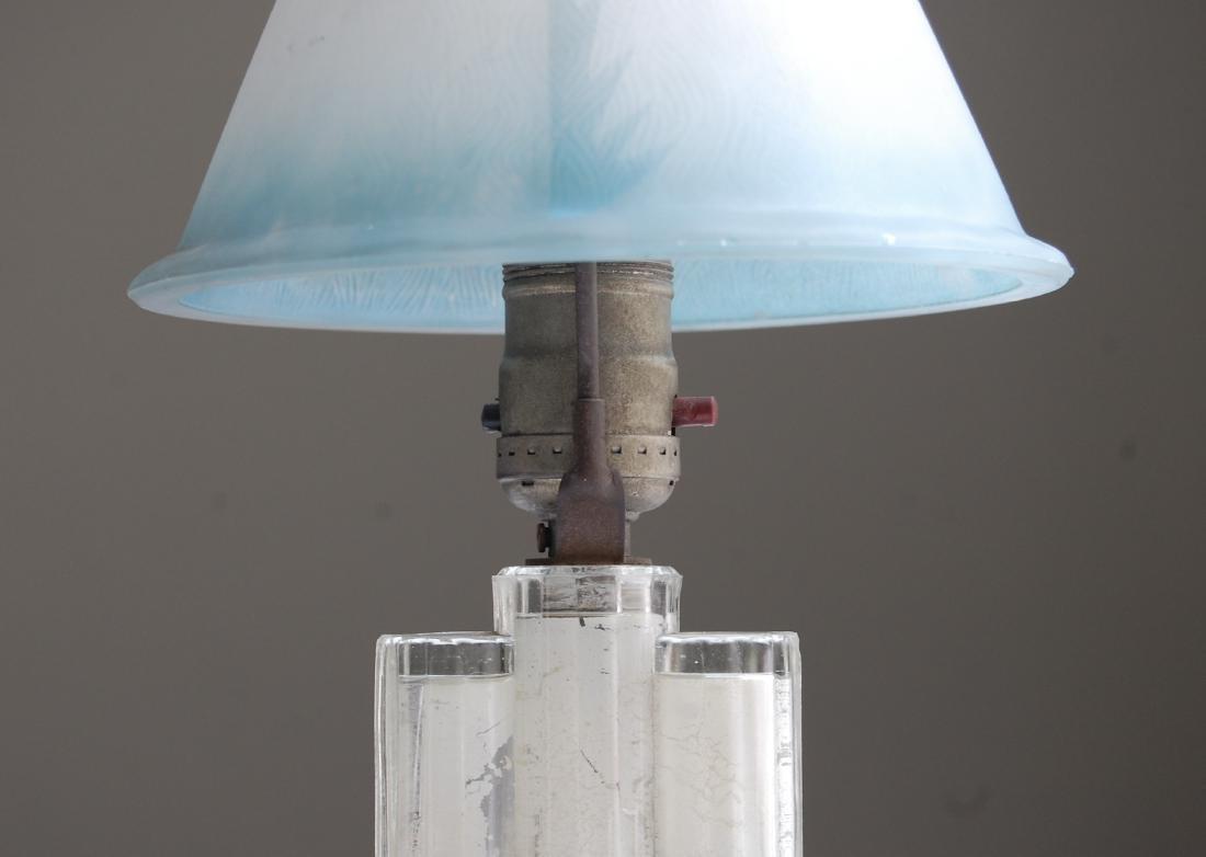 Blue Glass Bedside Lamp - 9