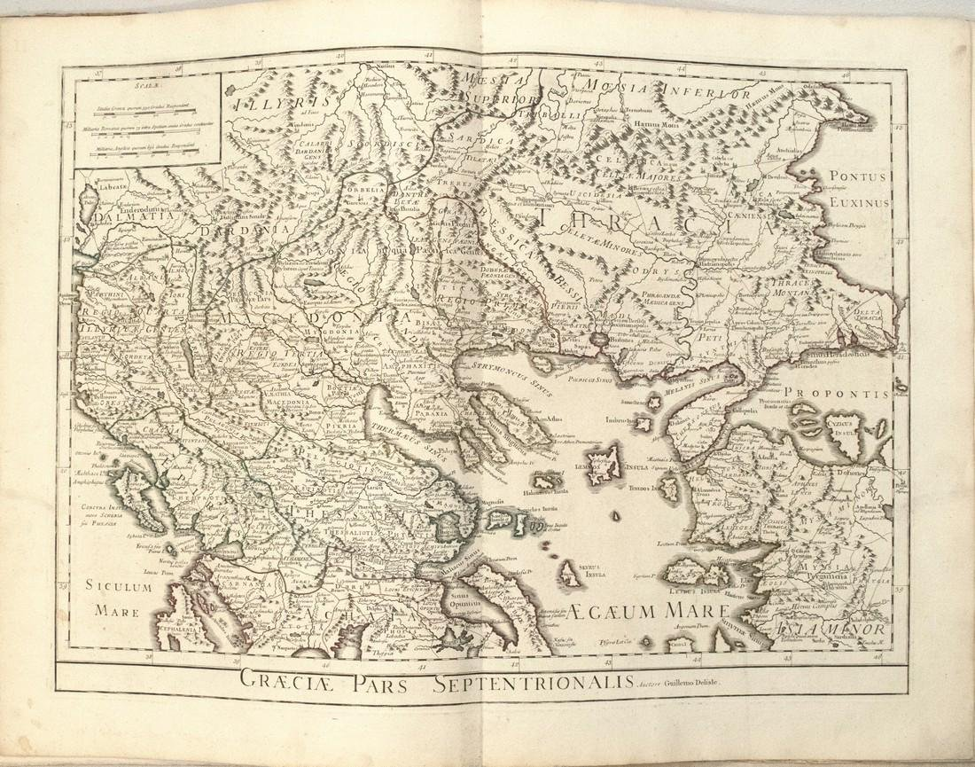 1733 c. DeLisle Map of Ancient Northern Greece --