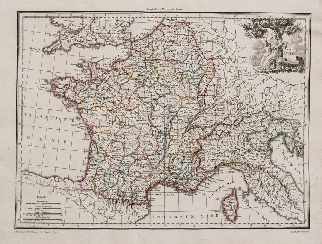 1812 Malte-Brun Map of France - Les Gaules