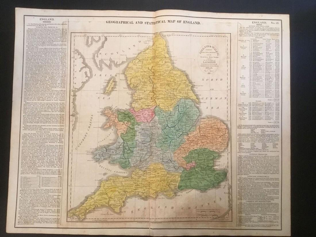 1820 England by Lavoisne. Published by Carey & Son in