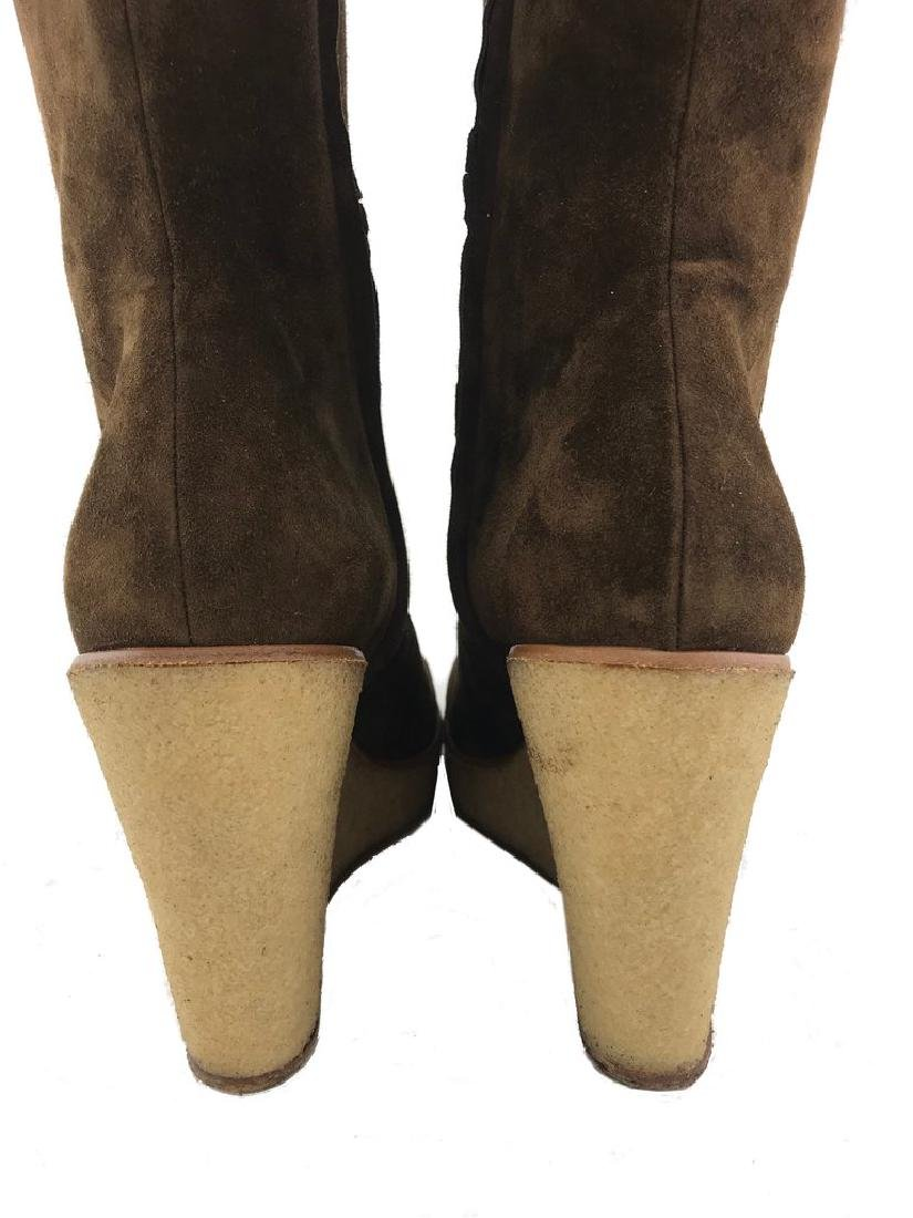 Christian Louboutin Suede Love Story Wedge Boots Size - 10