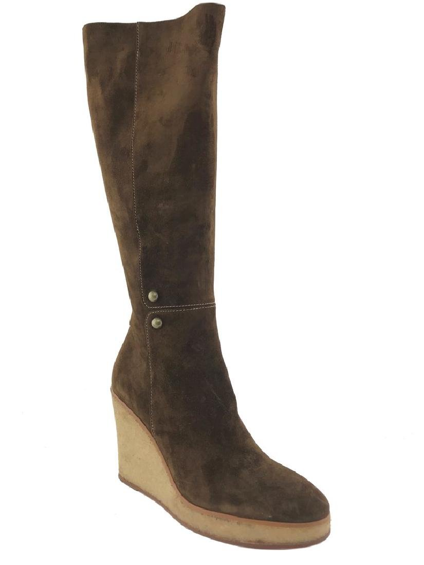 Christian Louboutin Suede Love Story Wedge Boots Size