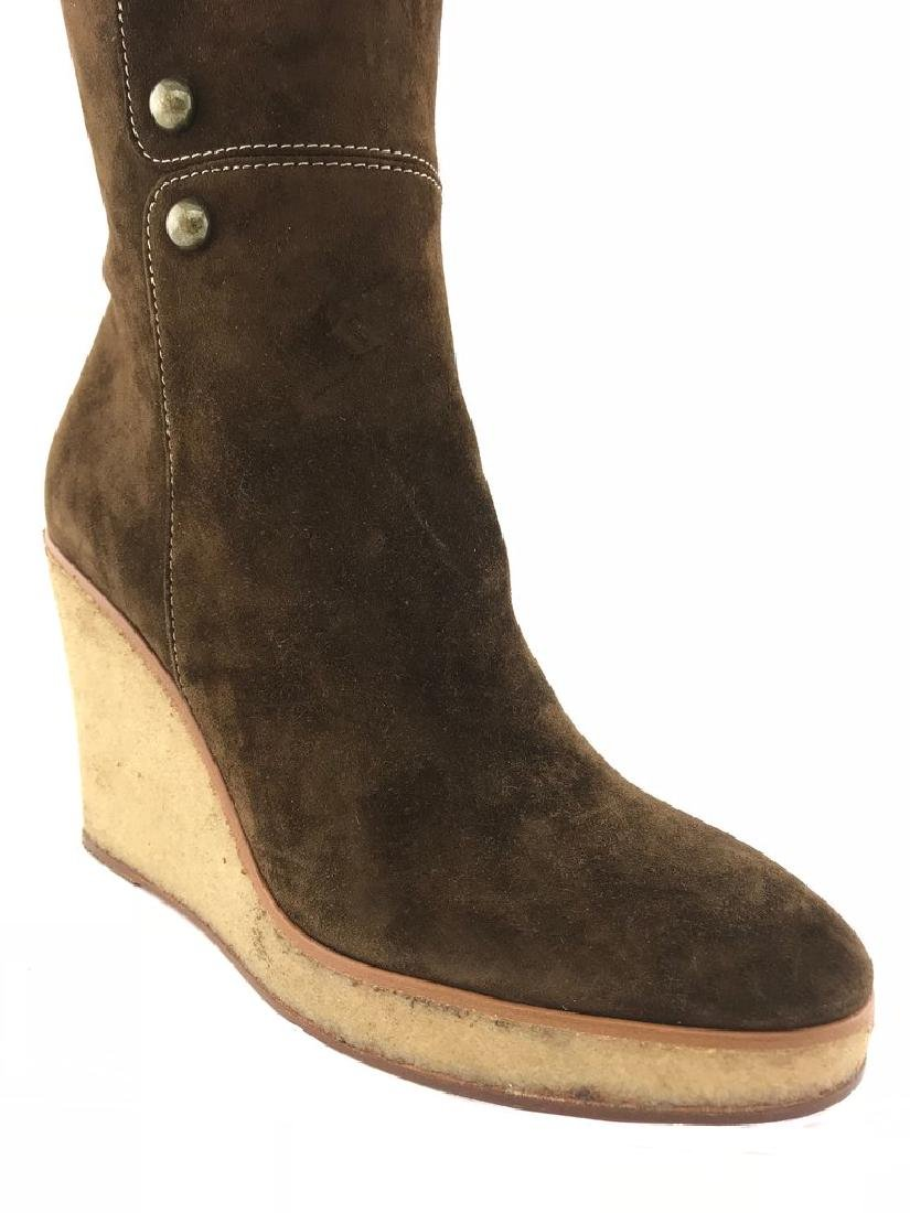 Christian Louboutin Suede Love Story Wedge Boots Size - 6