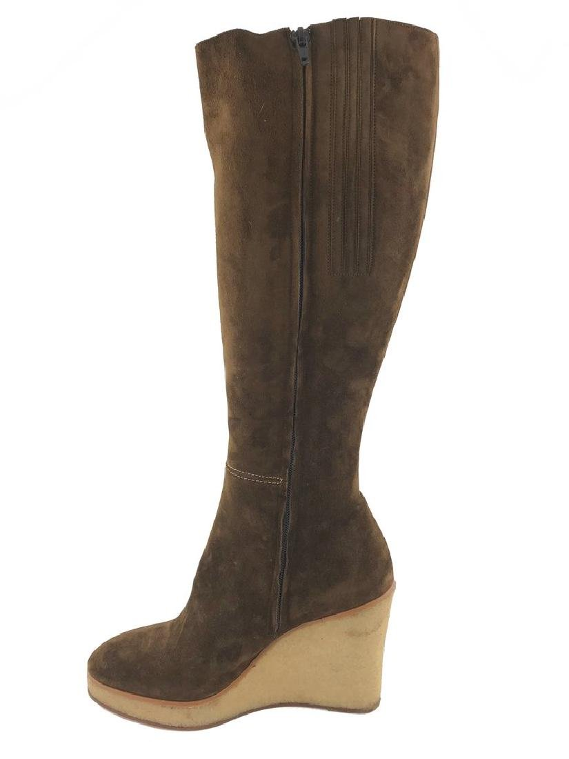 Christian Louboutin Suede Love Story Wedge Boots Size - 7