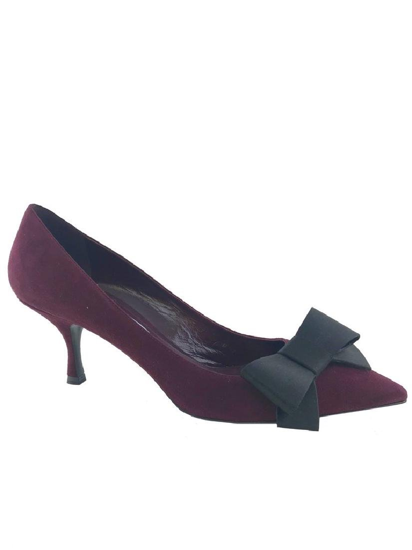 Prada Suede Point-Toe Bow Pump Size 8 - 6