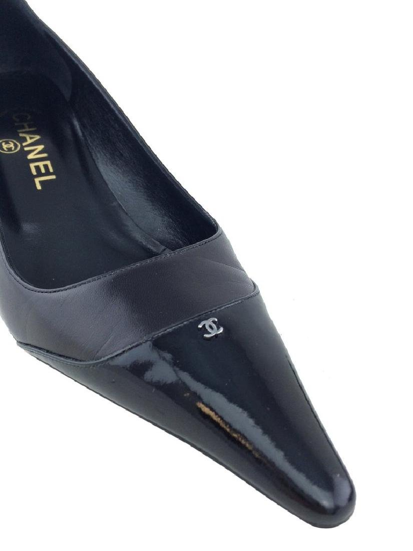 Chanel Leather Cap Toe Classic Pump Size 8 - 9