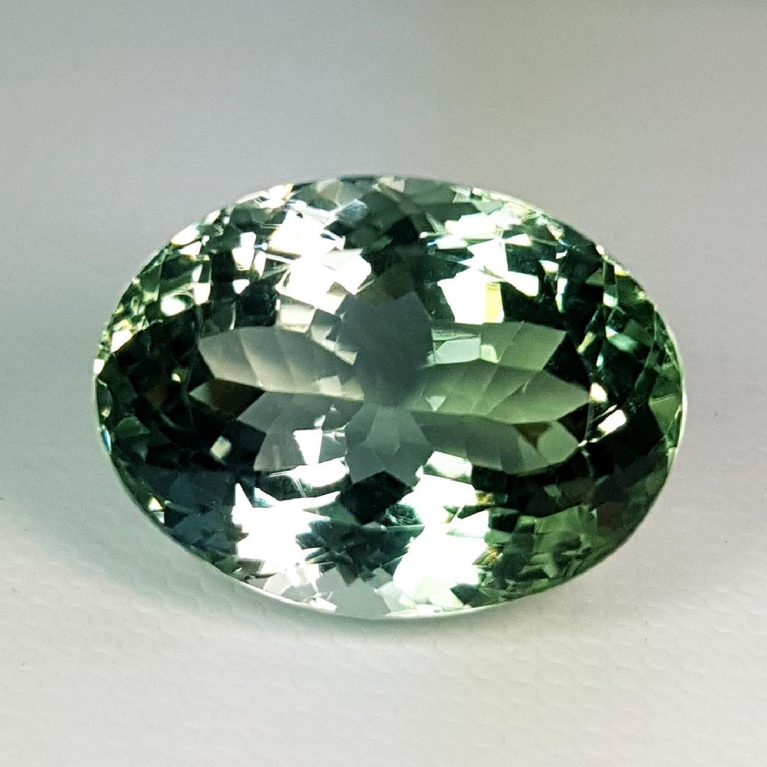 19.30 ct Top Luster Natural Green Amethyst