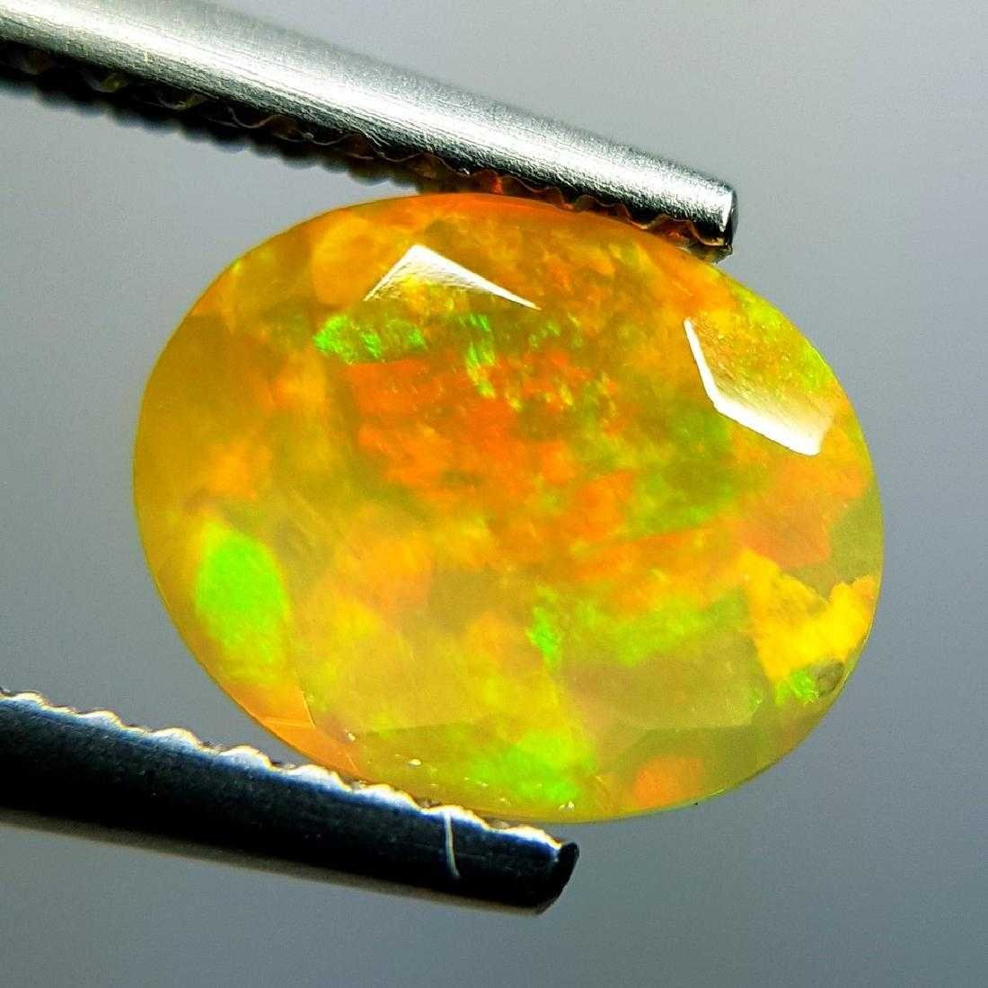 1.31 ct Awesome Fire Oval Cut Natural Opal