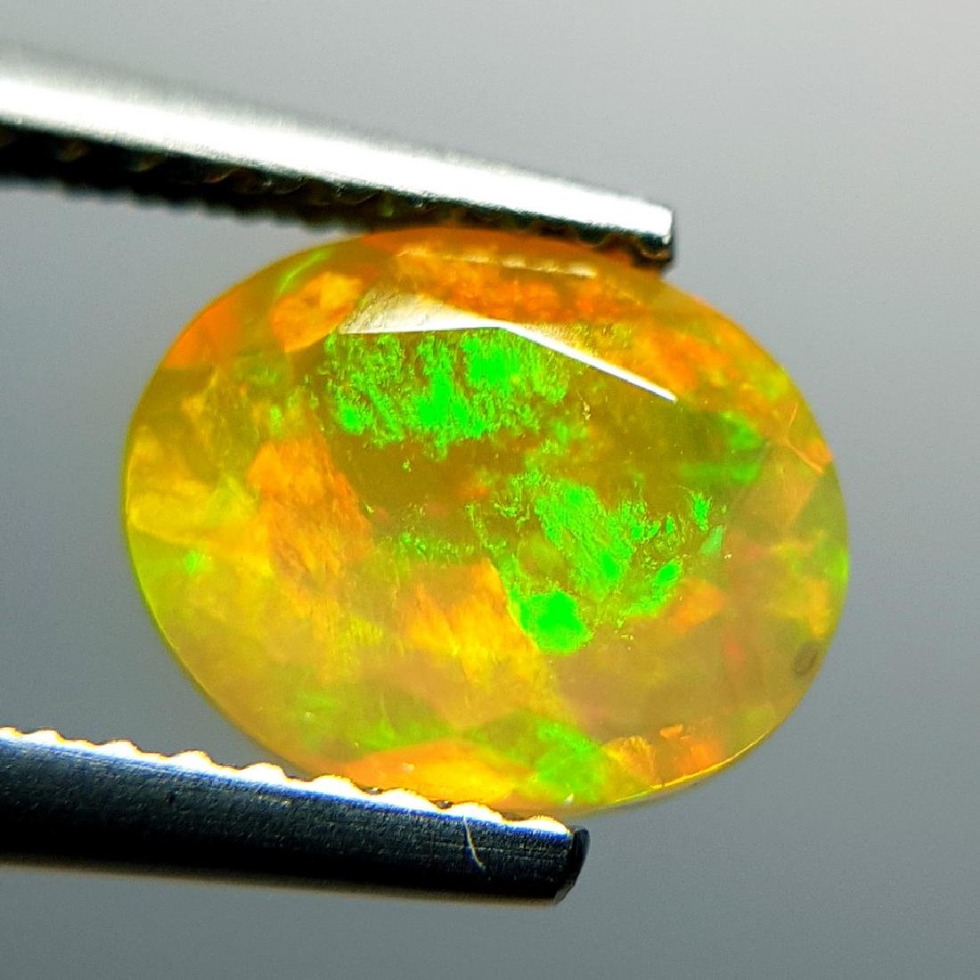 1.31 ct Awesome Fire Oval Cut Natural Opal - 4