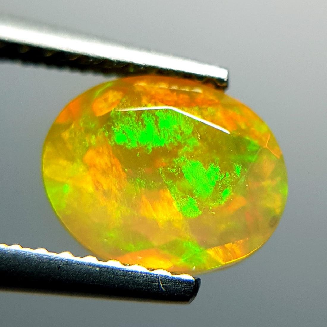 1.31 ct Awesome Fire Oval Cut Natural Opal - 6