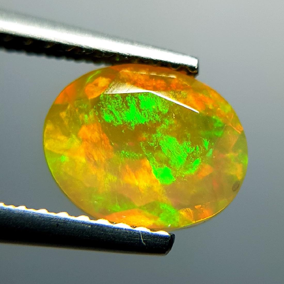 1.31 ct Awesome Fire Oval Cut Natural Opal - 8