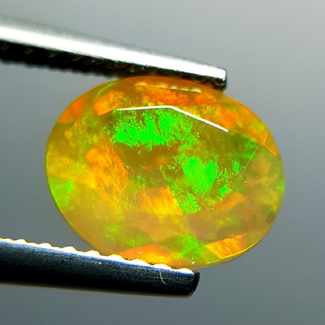1.31 ct Awesome Fire Oval Cut Natural Opal - 9