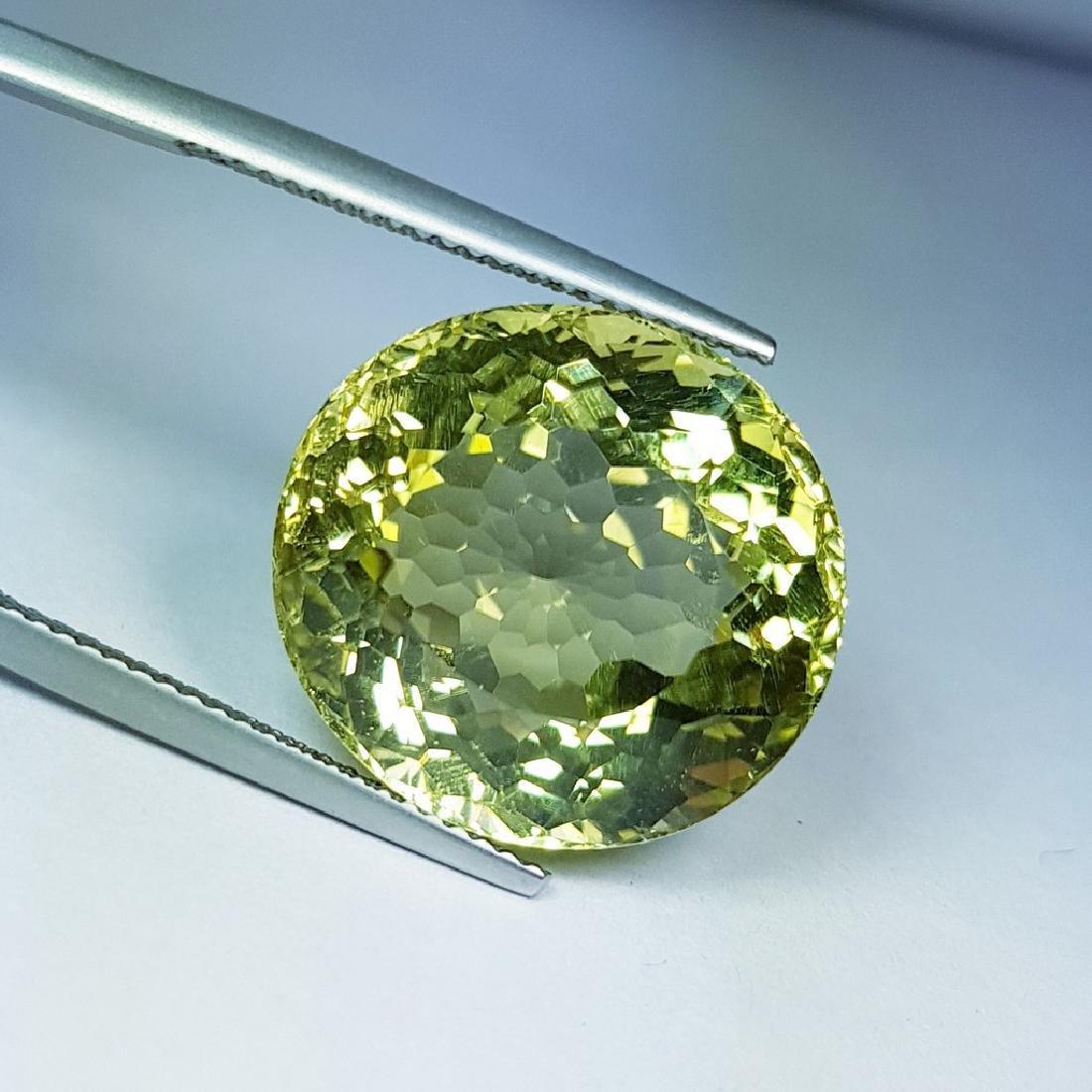 22.55 ct Natural Green Gold Quartz - 2