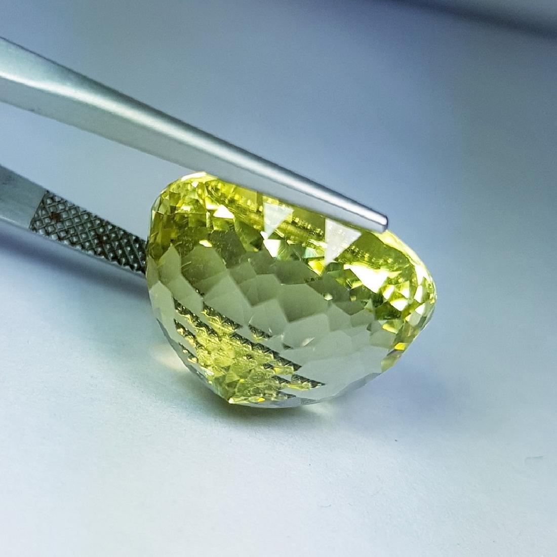 22.55 ct Natural Green Gold Quartz - 3