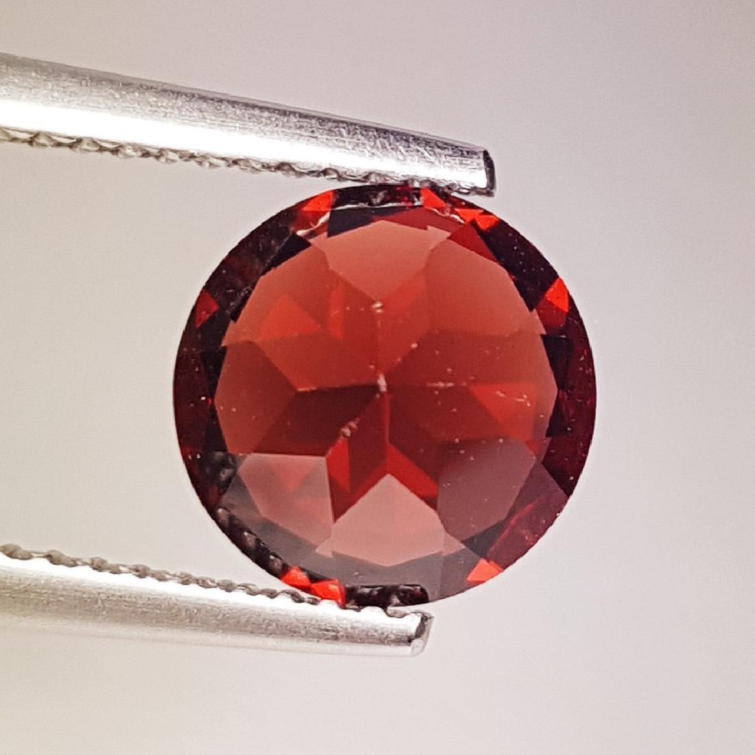 2.42 ct Fantastic Natural Pyrope - Almandite Red Garnet - 4