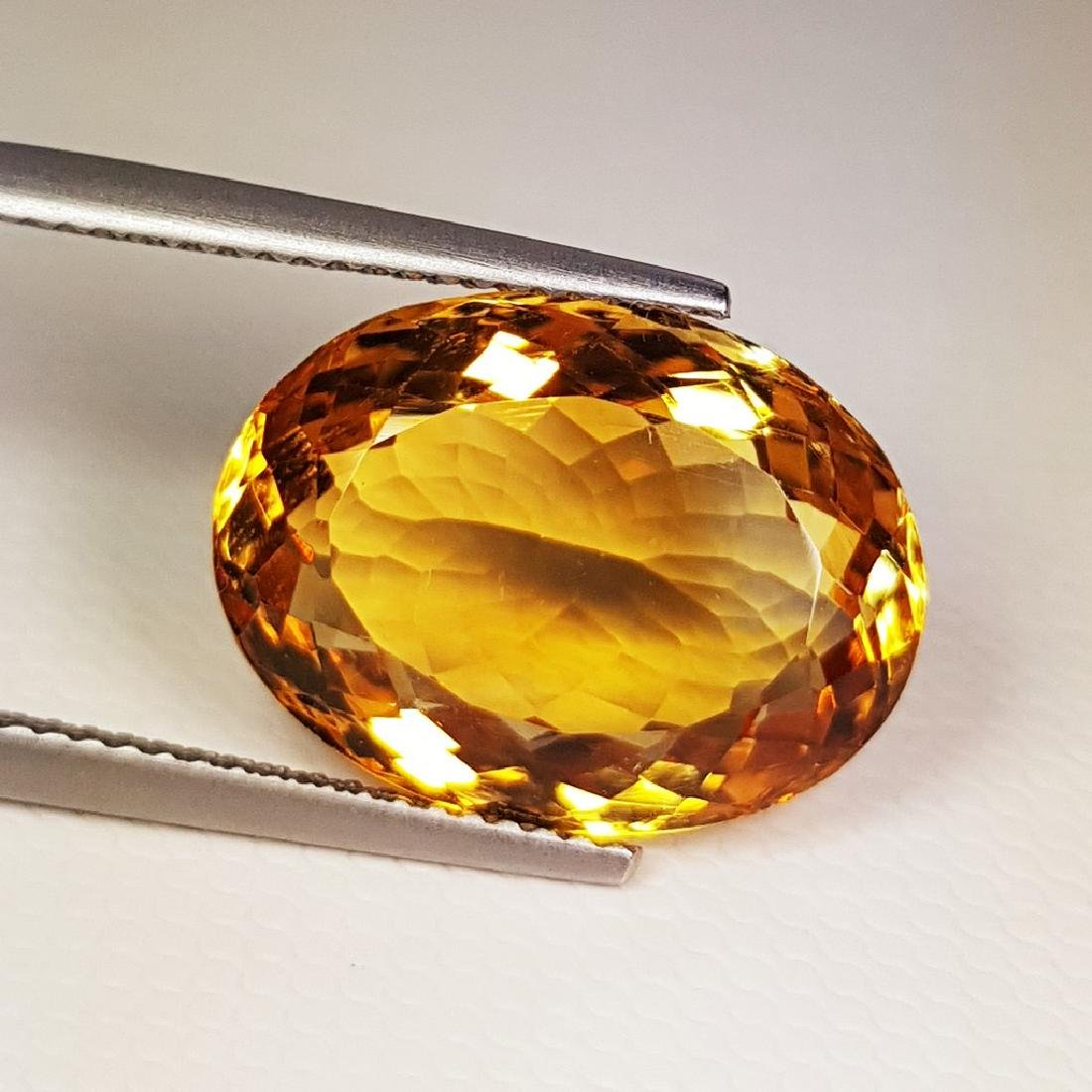 10.03 ct Top Quality Oval Cut Natural Citrine