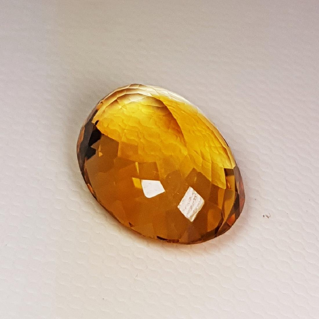 10.03 ct Top Quality Oval Cut Natural Citrine - 3