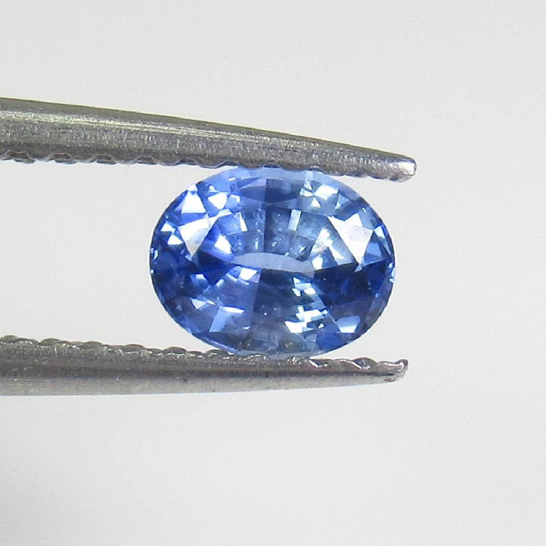 0.45 Ctw Natural Ceylon Blue Sapphire 5X4 mm Oval Cut