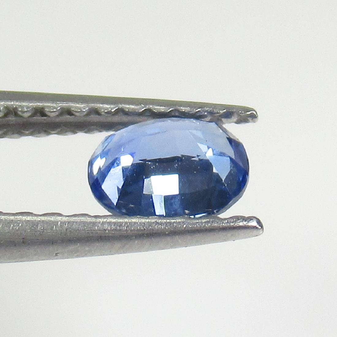 0.45 Ctw Natural Ceylon Blue Sapphire 5X4 mm Oval Cut - 2