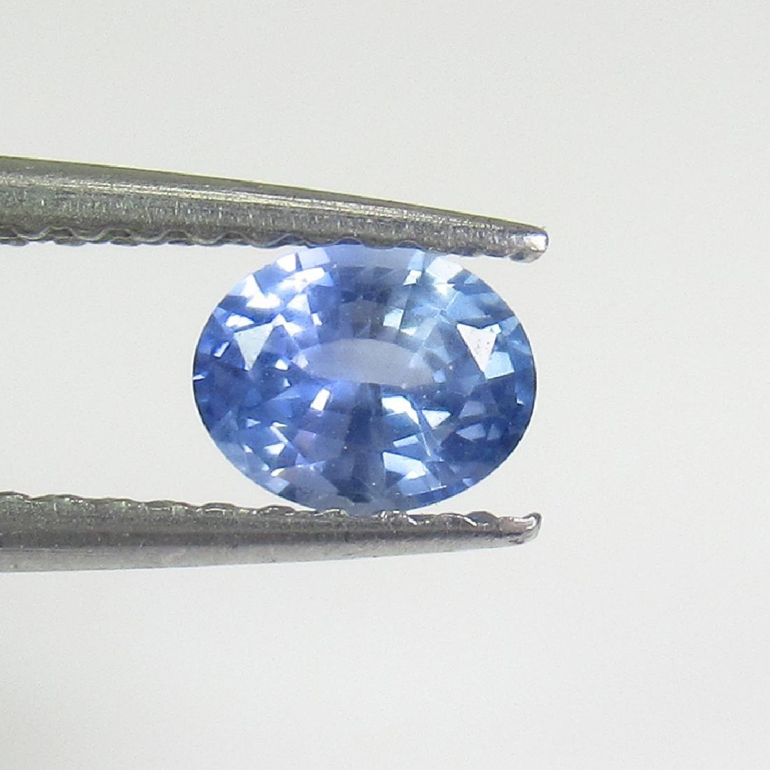 0.44 Ctw Natural Ceylon Blue Sapphire 5X4 mm Oval Cut