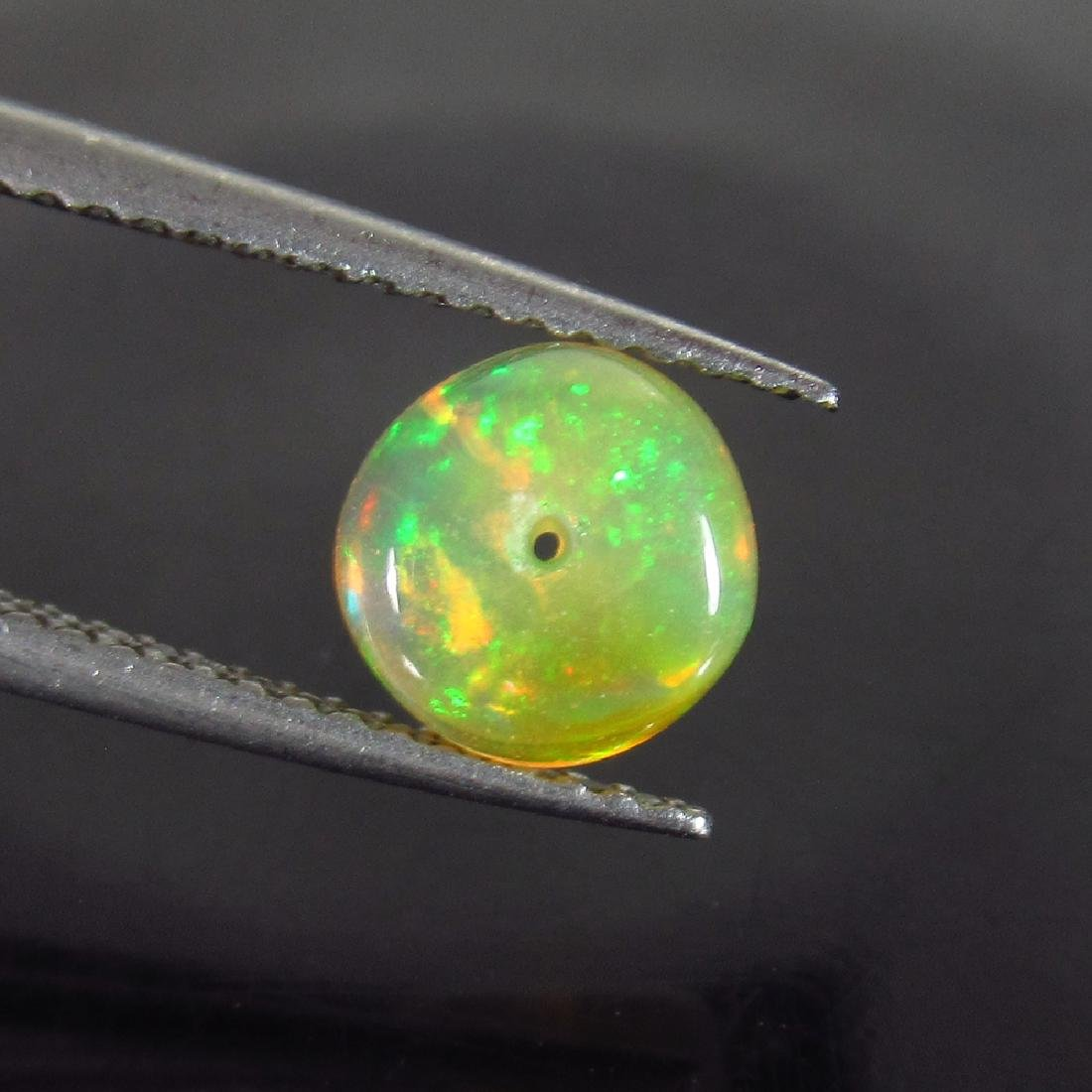 1.12 Ctw Natural Drilled Multi-Color Fire 6.8 mm Round
