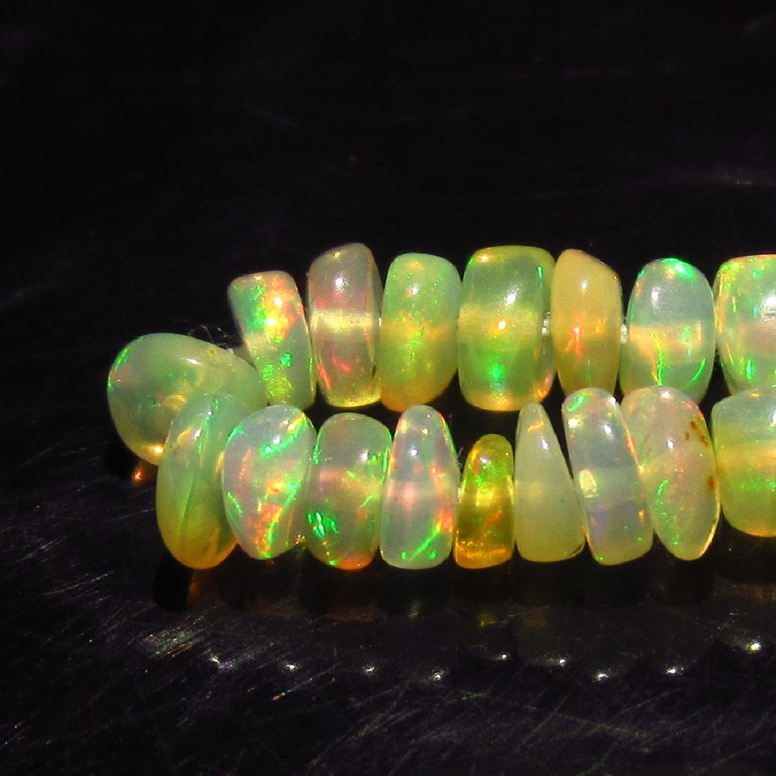 2.79 Ctw Natural Drilled Multi-Color Fire Round Opal - 3