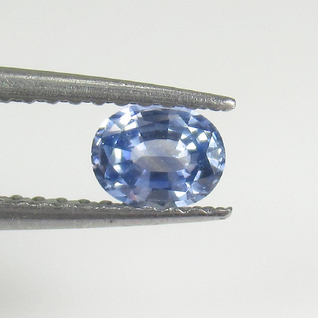 0.41 Ctw Natural Ceylon Blue Sapphire 5X4 mm Oval Cut