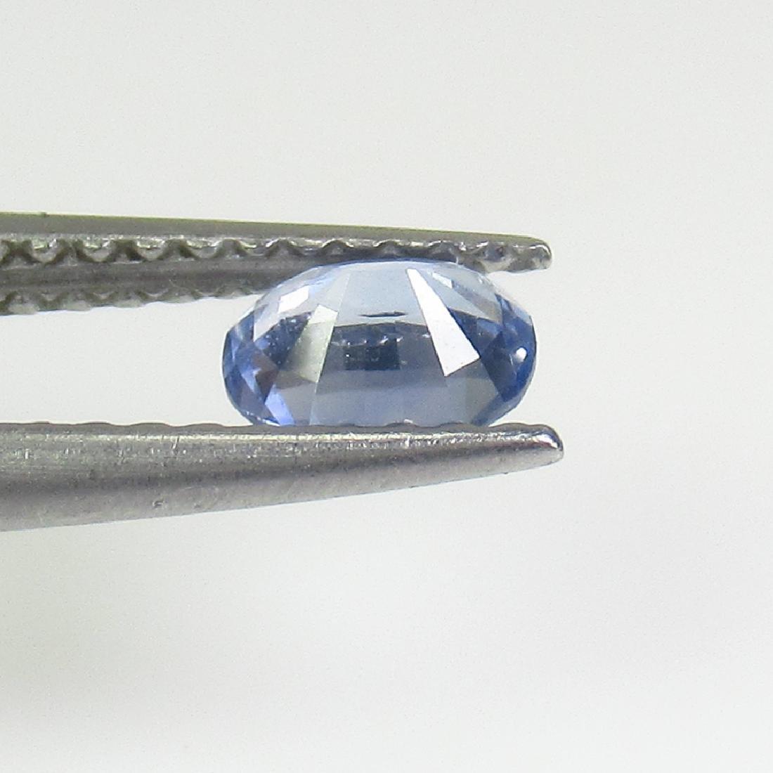 0.41 Ctw Natural Ceylon Blue Sapphire 5X4 mm Oval Cut - 2