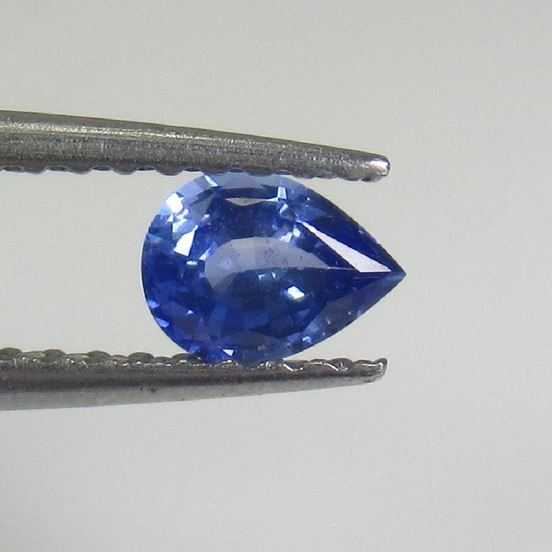 0.32 Ctw Natural Ceylon Blue Sapphire Pear Cut
