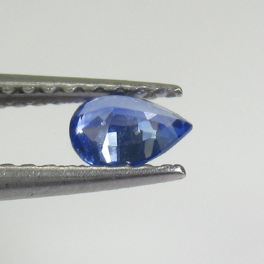 0.32 Ctw Natural Ceylon Blue Sapphire Pear Cut - 2