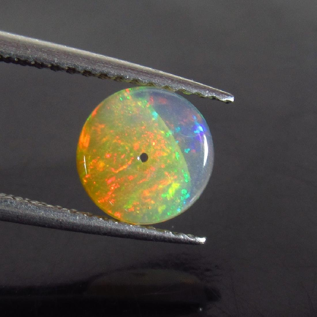 0.94 Ctw Natural Drilled Multi-Color Fire 7.3 mm Round - 2
