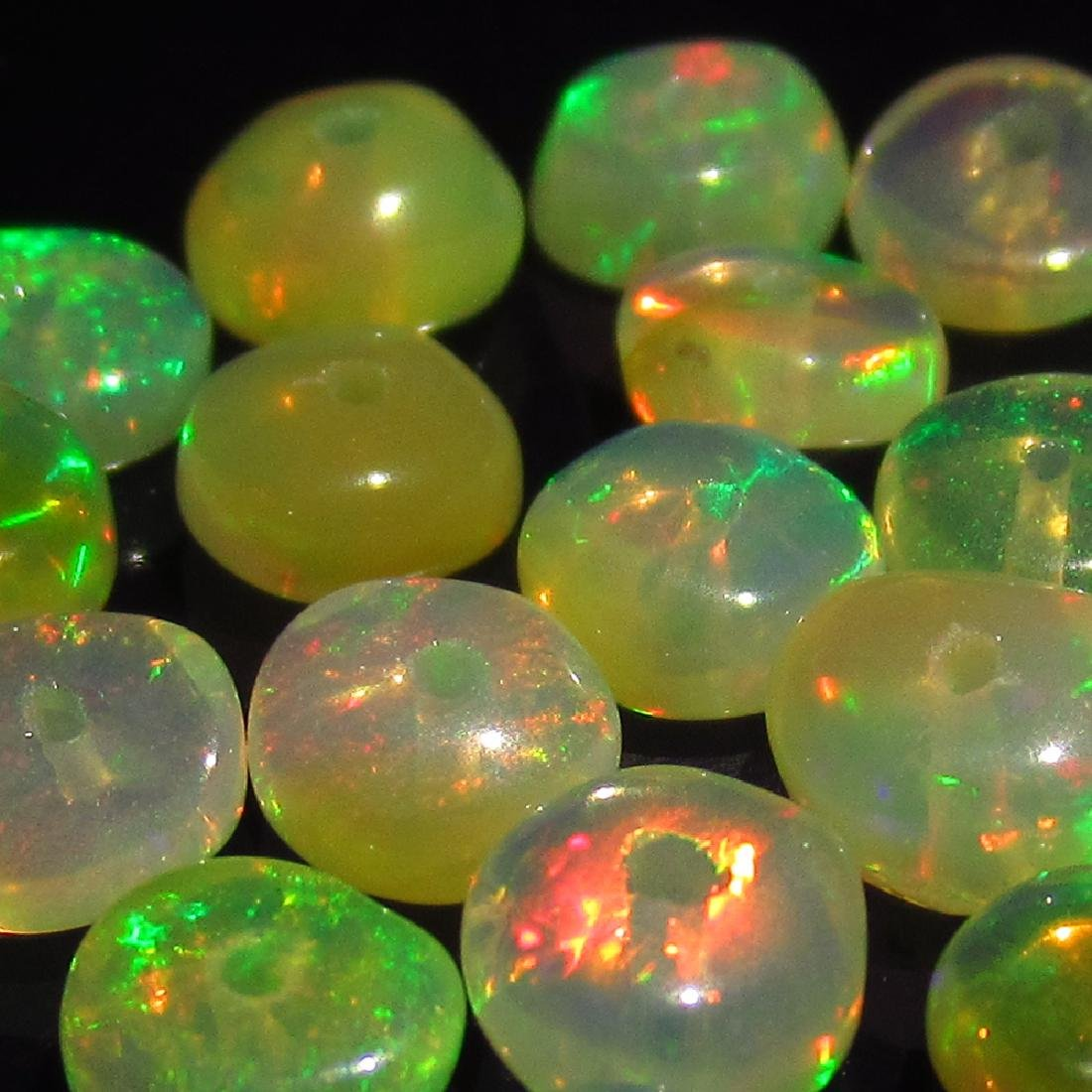 5.56 Ctw Natural Drilled Multi-Color Fire Round Opal - 4