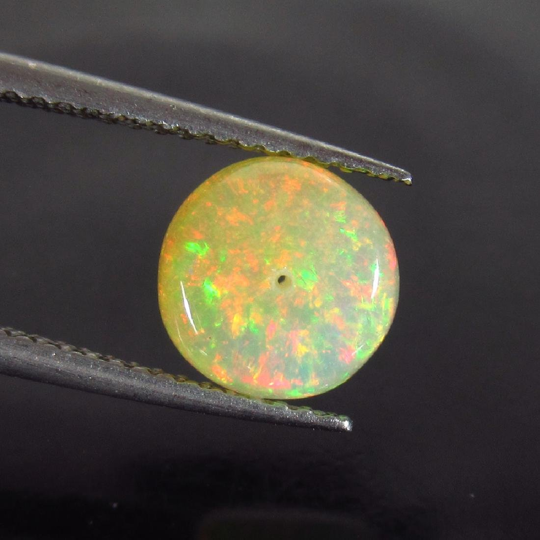 1.75 Ctw Natural Drilled Multi-Color Fire 8 mm Round