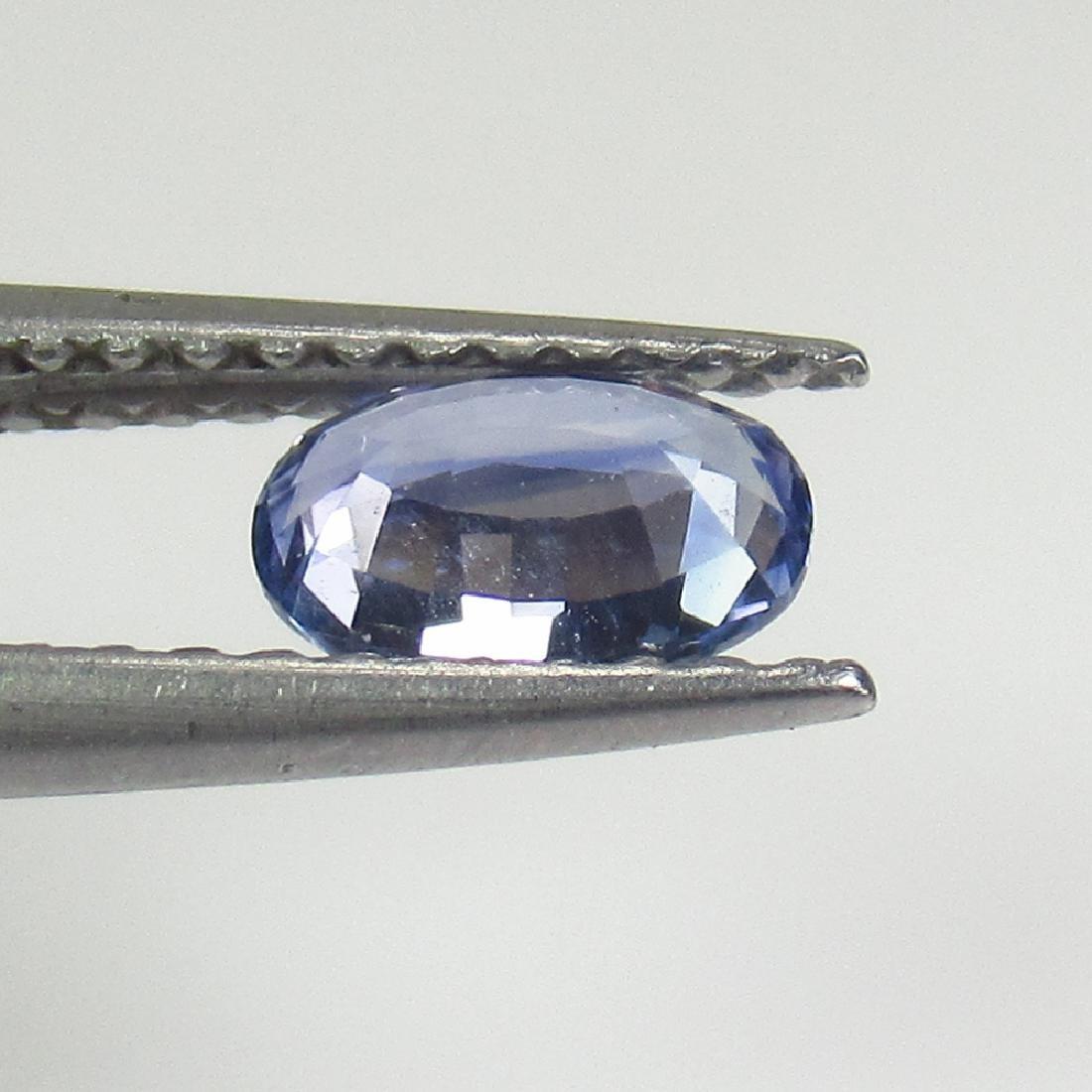 0.54 Ctw Natural Ceylon Blue Sapphire 6X4 mm Oval Cut - 2