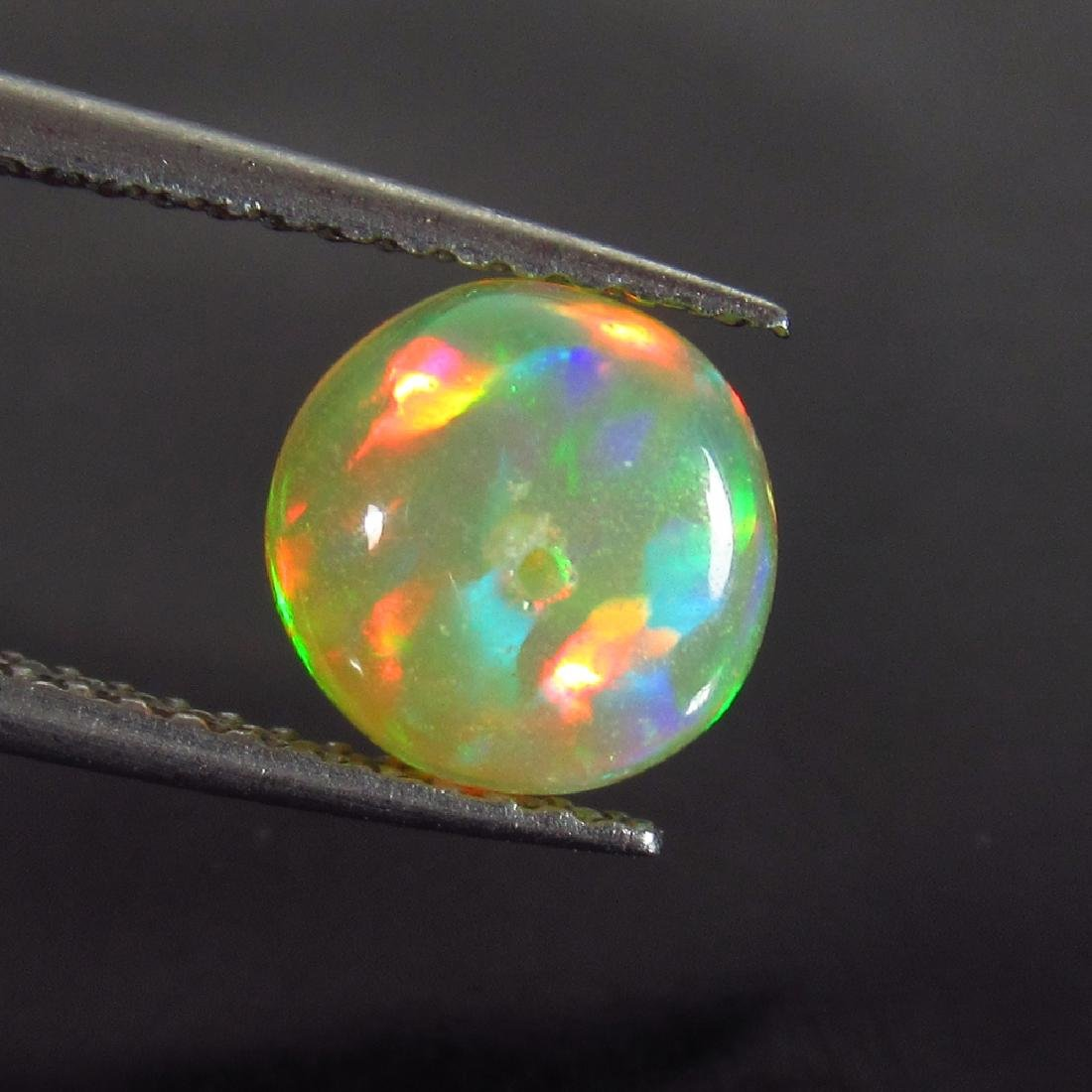 1.59 Ctw Natural Drilled Multi-Color Fire 9.5 mm Round