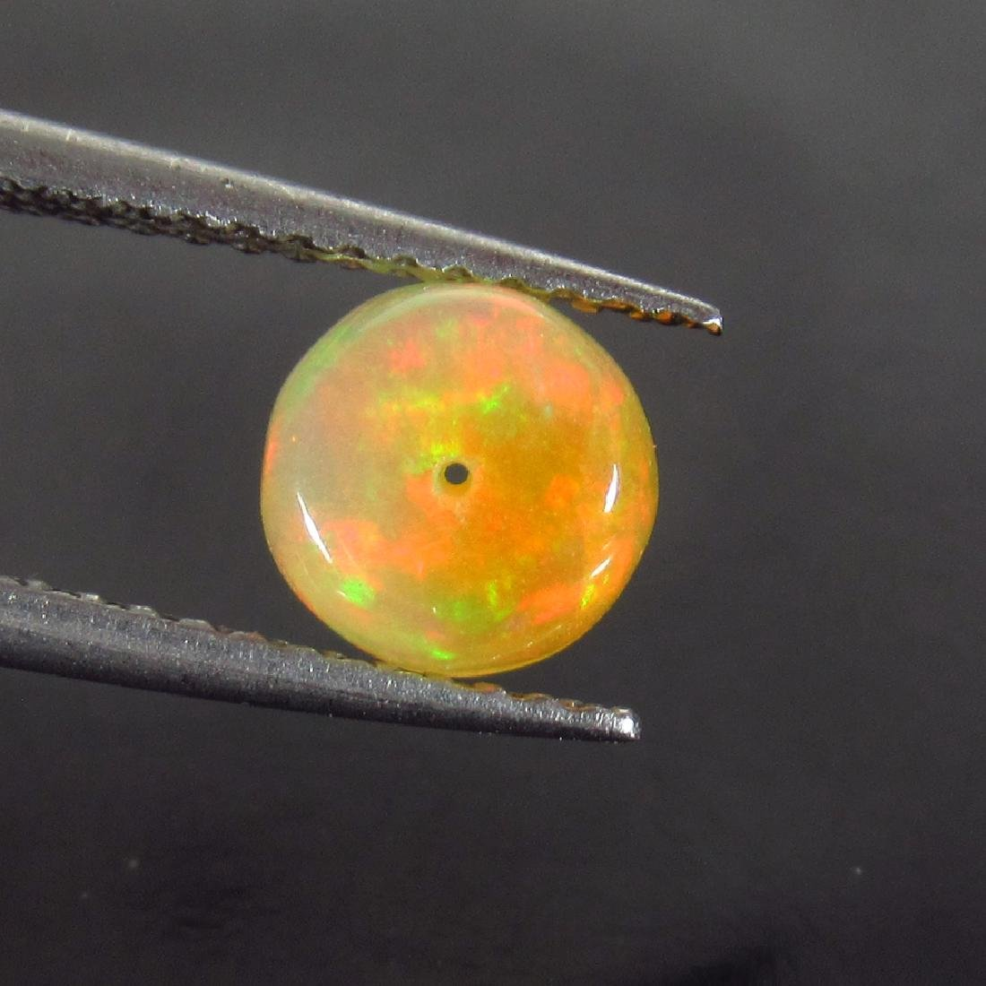 0.92 Ctw Natural Drilled Multi-Color Fire 6.3 mm Round