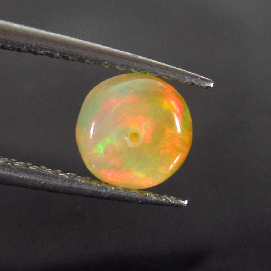 0.92 Ctw Natural Drilled Multi-Color Fire 6.3 mm Round - 2