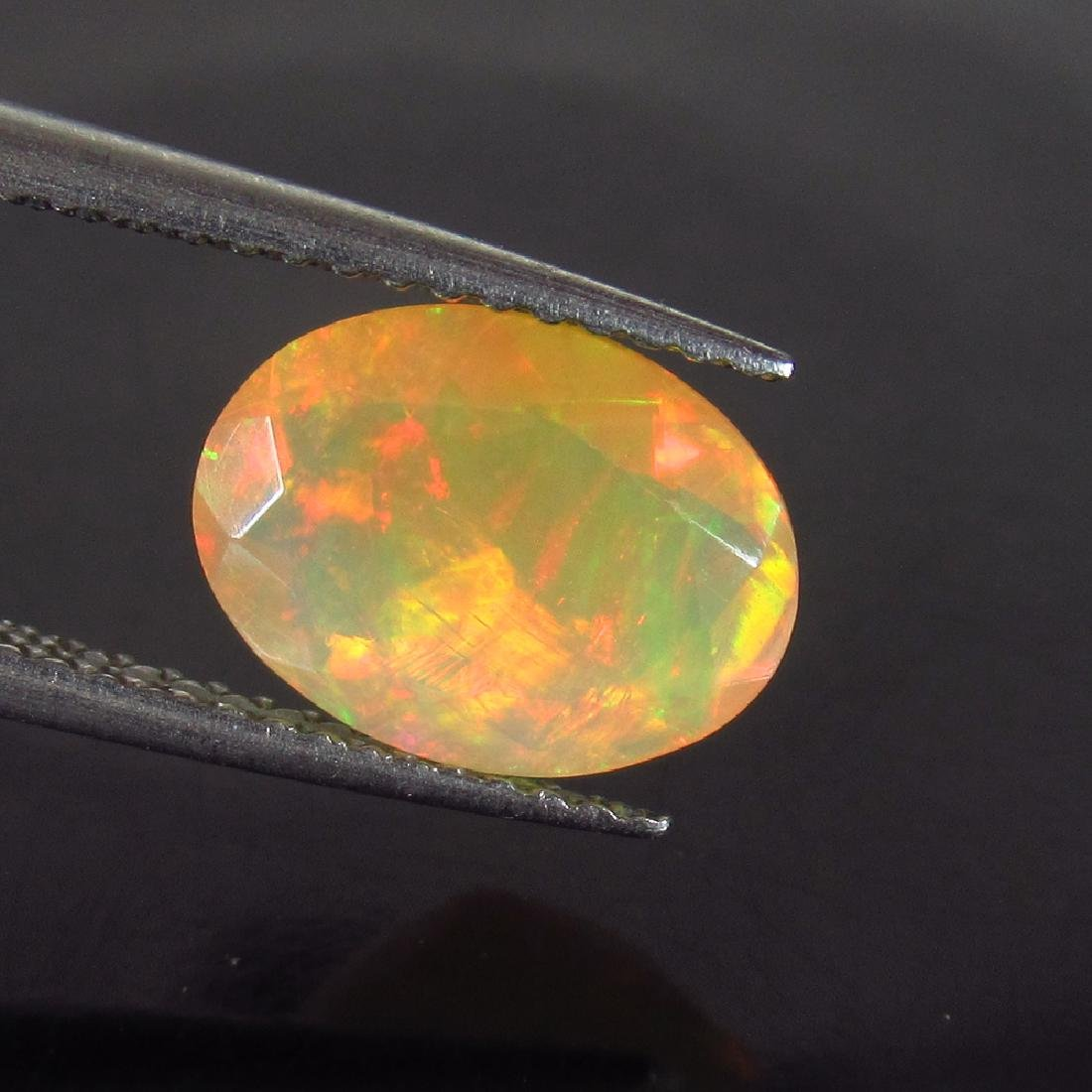 1.42 Ctw Natural Ethiopian Faceted Opal Oval cut