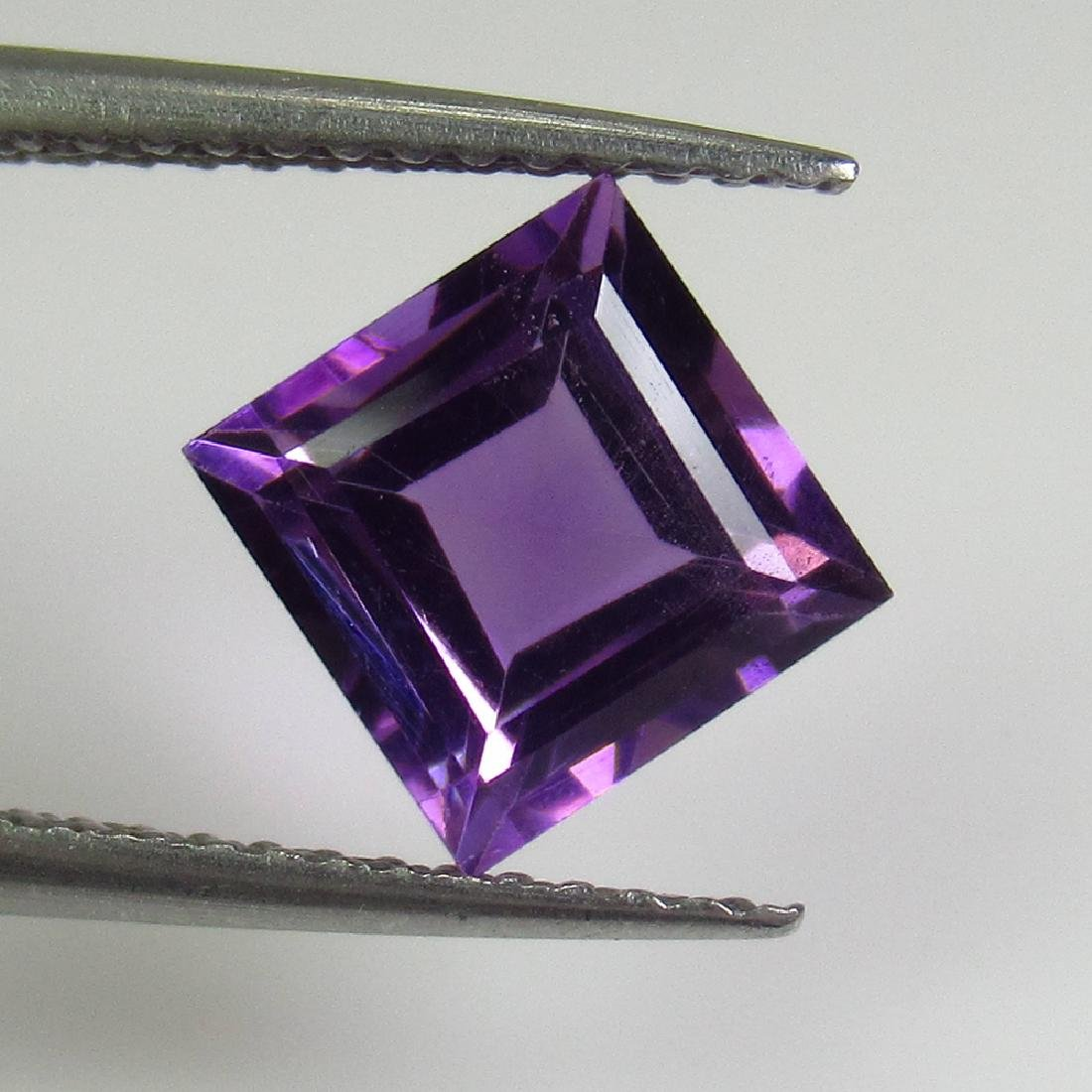 1.79 Ctw Natural Purple Amethyst 7X7 mm Square Cut