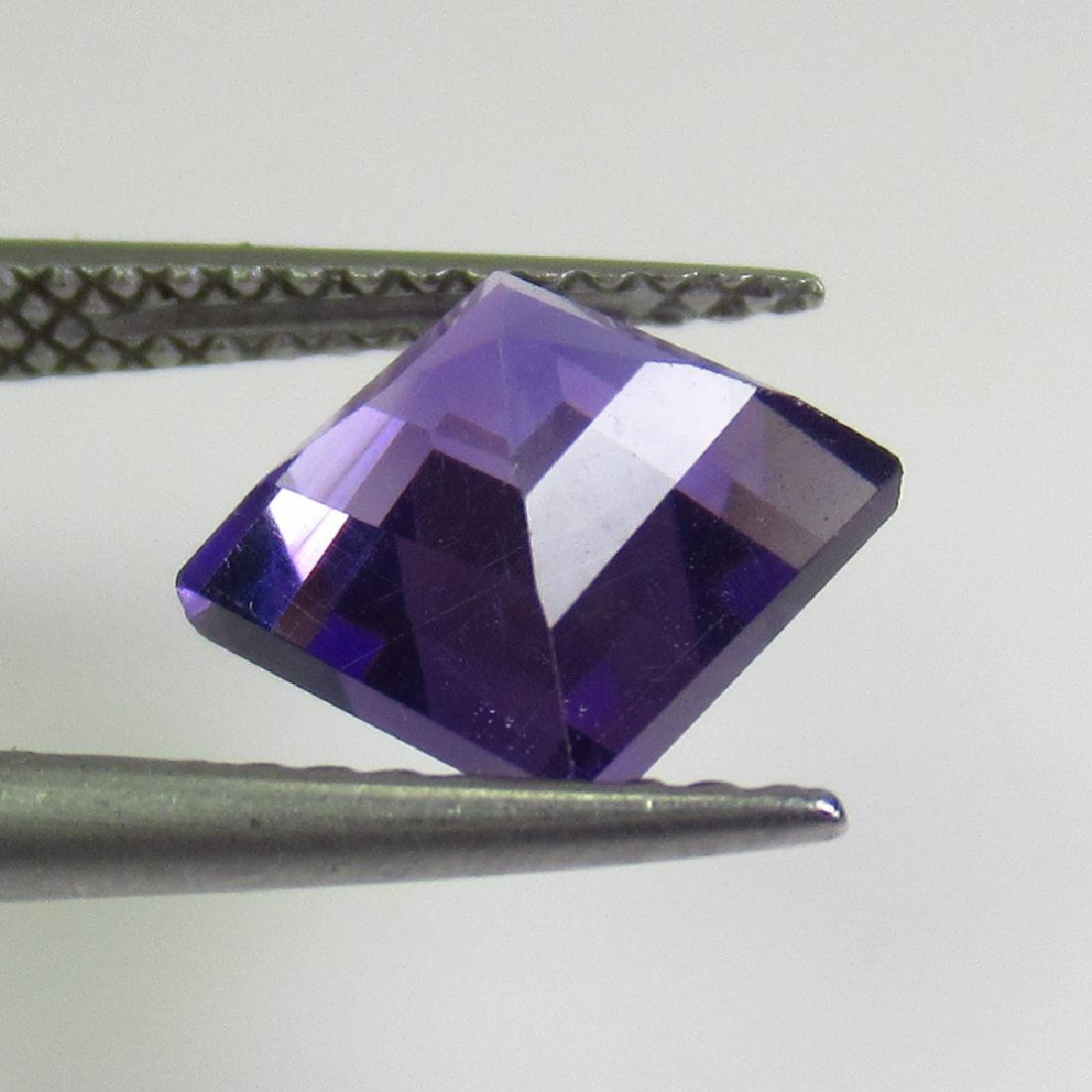 1.79 Ctw Natural Purple Amethyst 7X7 mm Square Cut - 2