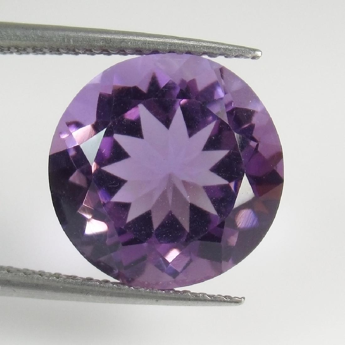 6.39 Ct Genuine Brazil Purple Amethyst 12X12 mm Round