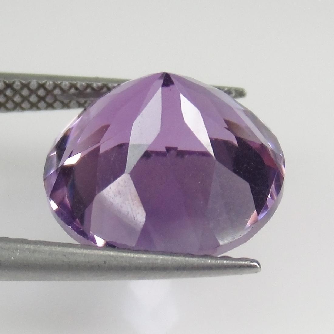6.39 Ct Genuine Brazil Purple Amethyst 12X12 mm Round - 2