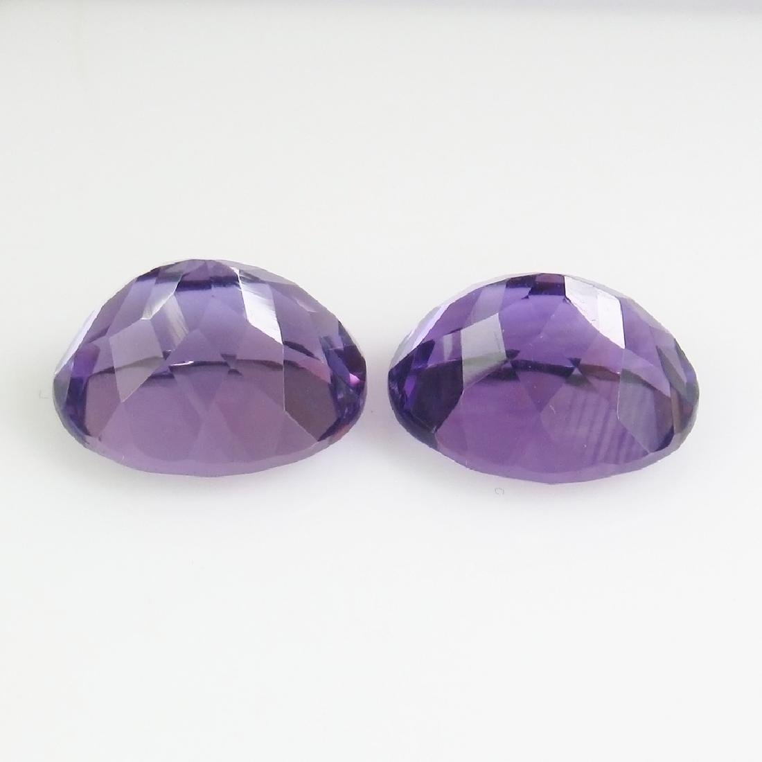 7.56 Ct Genuine Brazil Purple Amethyst 11x9 mm Oval - 2