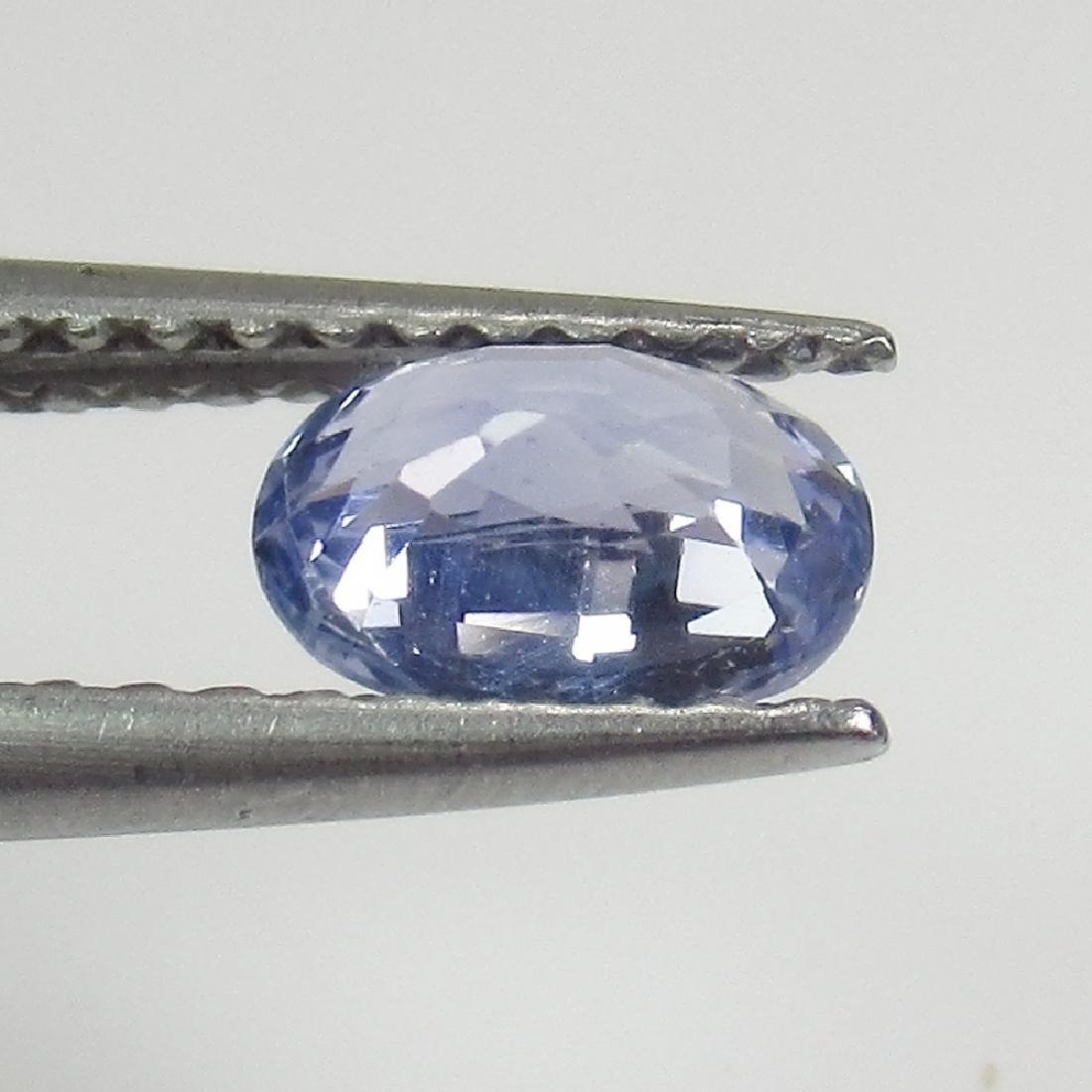 0.71 Ct Genuine Ceylon Blue Sapphire Oval cut - 2