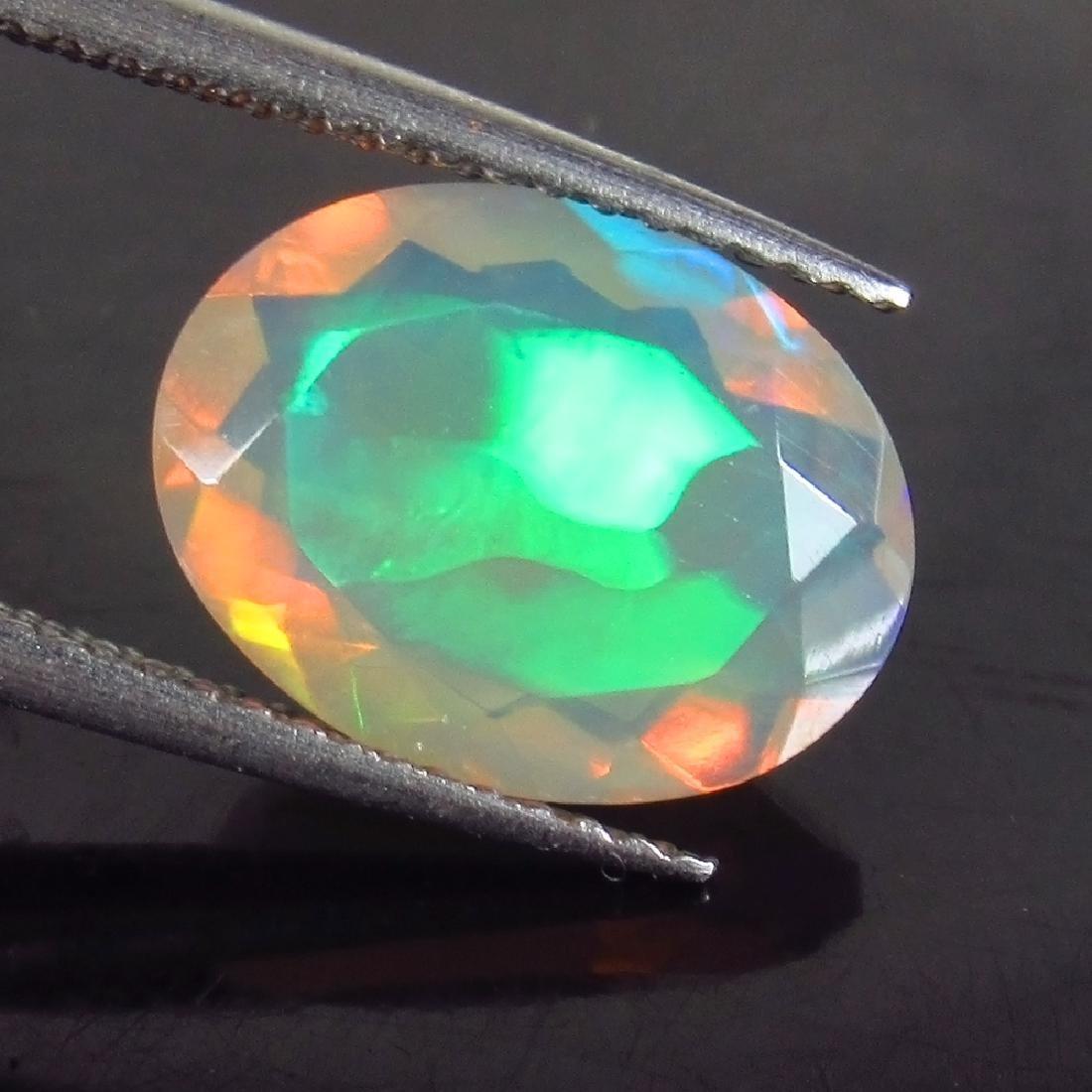 2.12 Ct Genuine Ethiopian Multi-Color Fire Faceted Opal