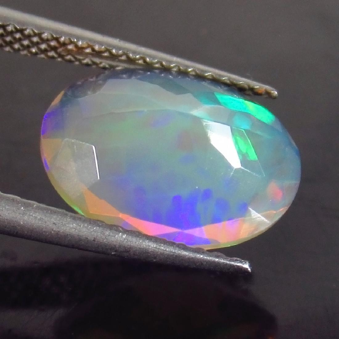 2.12 Ct Genuine Ethiopian Multi-Color Fire Faceted Opal - 2