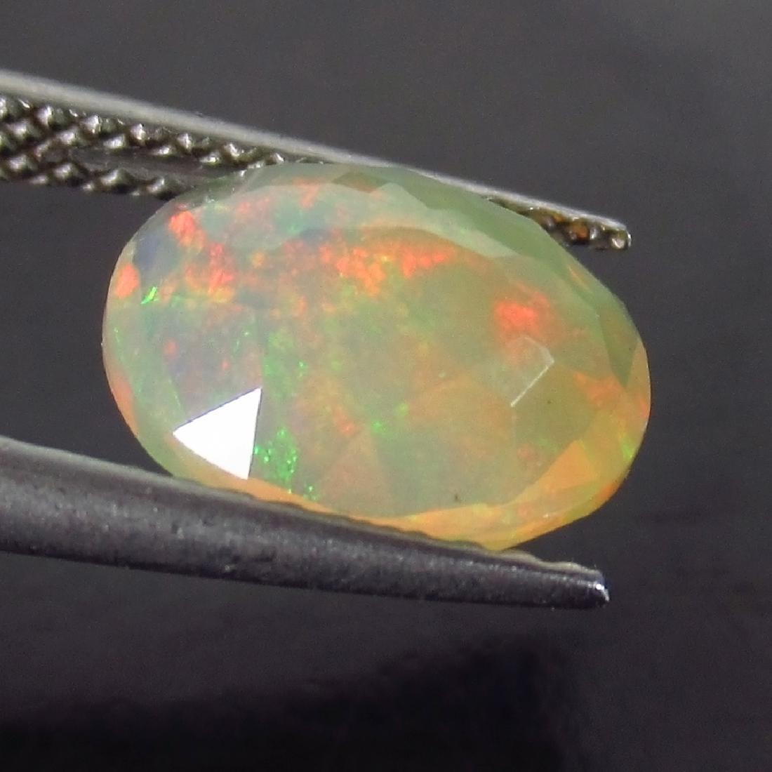 1.48 Ct Genuine Ethiopian Multi-Color Fire Faceted Opal - 2