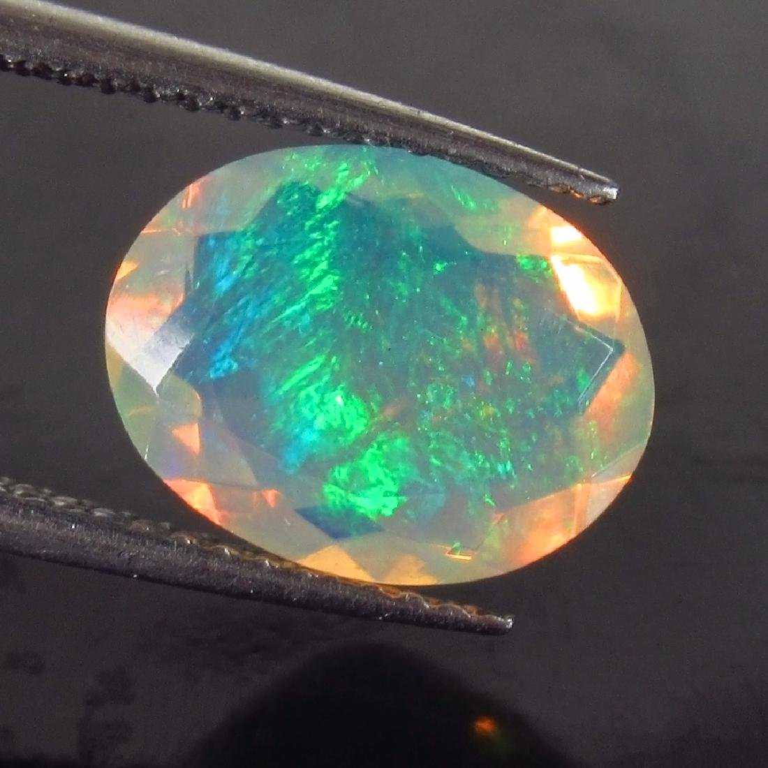 2.03 Ct Genuine Ethiopian Faceted Opal 11X8.5 mm Oval