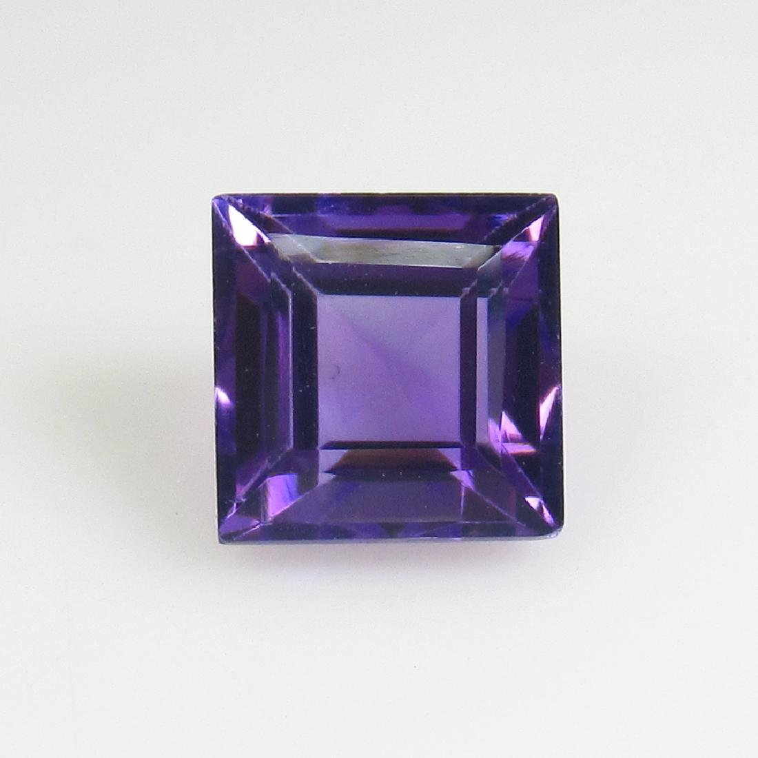 2.05 Ct Genuine Brazil Purple Amethyst Square Cut